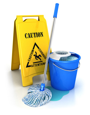Caution when cleaning