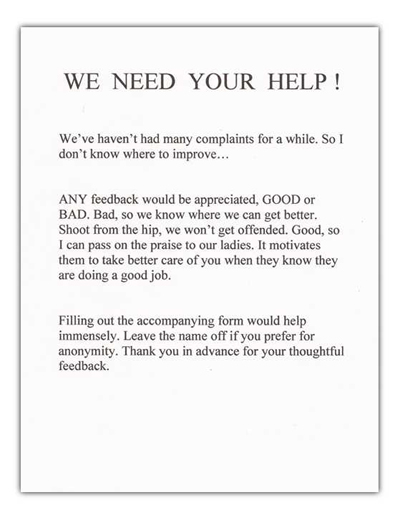 Dallas Maids survey