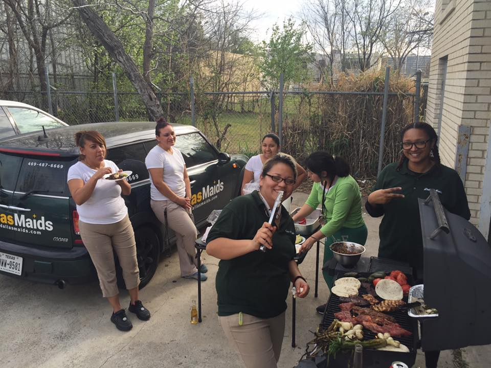 BBQ at the Dallas Maids office