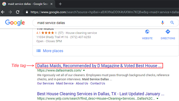 SEO For Newbies - Maid Service | Dallas Maids, Recommended by D